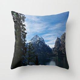 Jenny Lake/Tetons Throw Pillow