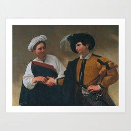 The Fortune Teller - Caravaggio Art Print