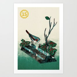 Slice & Dice - Silver Art Print