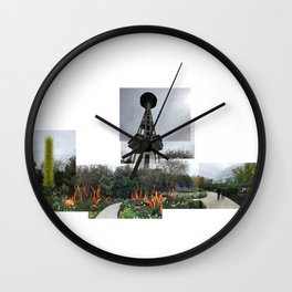 Needle & Chihuly glass Wall Clock