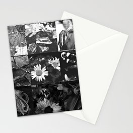 Greyscale collage Stationery Cards