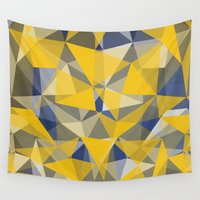 yellow pattern Wall Tapestries featuring Yellow by jbjart