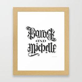 Barack and Michelle Framed Art Print