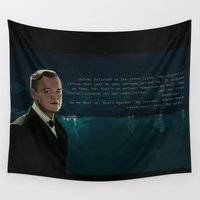 gatsby Wall Tapestries featuring The Great Gatsby by Vito Fabrizio Brugnola