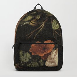 Botanical Rose And Snail Backpack
