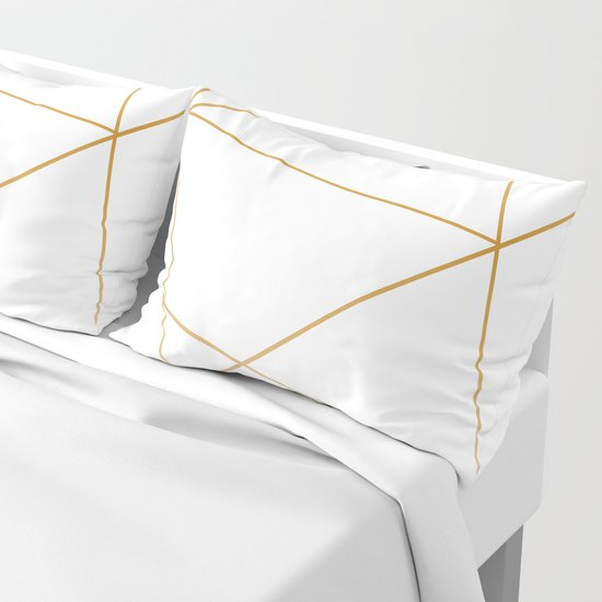 geometric gold and white by jessicabou