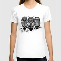 green T-shirts featuring Owls of the Nile by Rachel Caldwell
