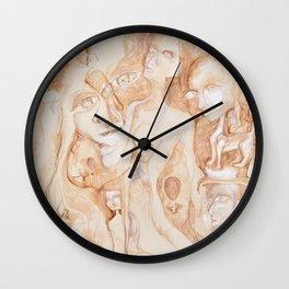 sepia I Wall Clock