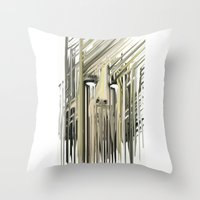kurt rahn Throw Pillows featuring Kurt Melting by eyesdrippingink
