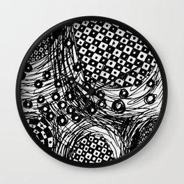 pulsating checkers Wall Clock