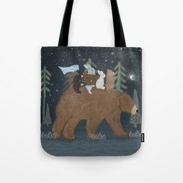 the moon bear Tote Bag