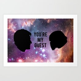 Intergalactic Ship Art Print