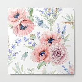 Fall Country Flowers Metal Print