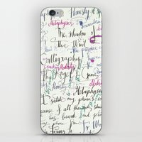 calligraphy iPhone & iPod Skins featuring Calligraphy Spill by Louis Franz