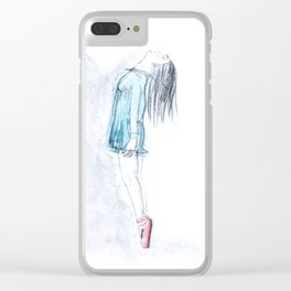 Ballerina On Pointe Clear iPhone Case
