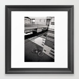 Bicycle under Glass Framed Art Print