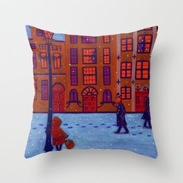 Little Match Girl Throw Pillow