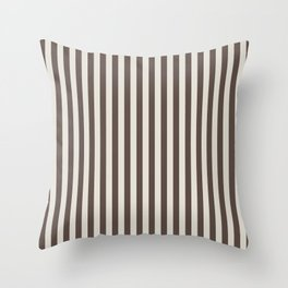 Chateau Brown and Heron Plume Stripe Throw Pillow