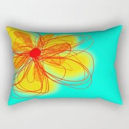 Yellow Flower Art by Ann Powell Rectangular Pillow