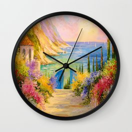 Road to the sea Wall Clock