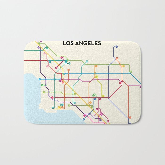 Los Angeles Freeway System Bath Mat