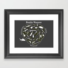 Zombie weapons Framed Art Print