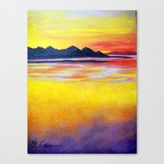 Landscape Painting  - Spectacular Sunset in Baja California Canvas Print