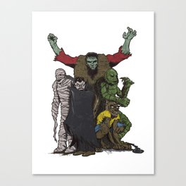 The Demonsterables (no text) Canvas Print