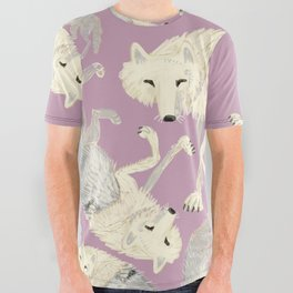 Totem Artic Wolf lilac All Over Graphic Tee