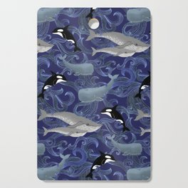 Beautiful Ocean Giants - purple Cutting Board