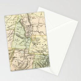 Vintage Map of the West Of The United States Stationery Cards