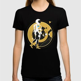 space girl, astronaut girl in space, concept illustration, science fiction T-shirt