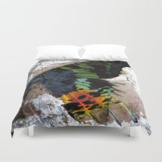 Sunset Moth Wing Abstract Duvet Cover