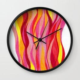 Waves of rage Wall Clock