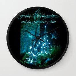 Frohe Weihnachten und ein gutes neues jahr Wall Clock