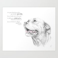 Murphy :: Loyalty [with Quote] Art Print