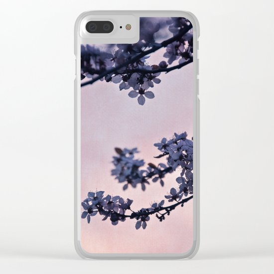 blossoms at dusk Clear iPhone Case