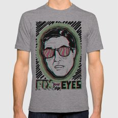 Fix Your Eyes! Mens Fitted Tee Athletic Grey SMALL