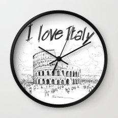 Il colosseo (Roma) Wall Clock