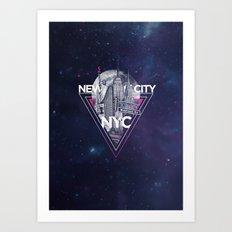 New York City V [pink] Art Print