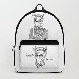 Ironic Hipster Unicorn Backpack