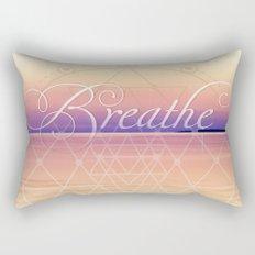 Breathe - Reminder Affirmation Mindful Quote Rectangular Pillow