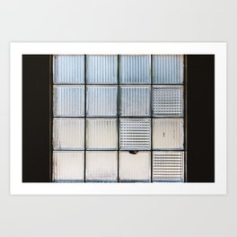 Glass Block Window Art Print