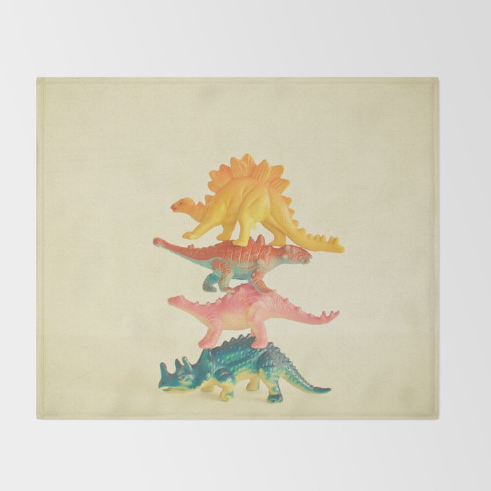 Dinosaur Antics Throw Blanket