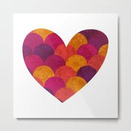 Purple Heart Tiles Metal Print