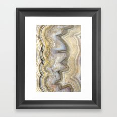 Jagged Agate Framed Art Print