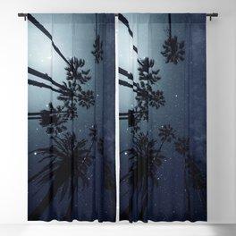 Palm Trees, Night Sky, Stars, Moon Blackout Curtain