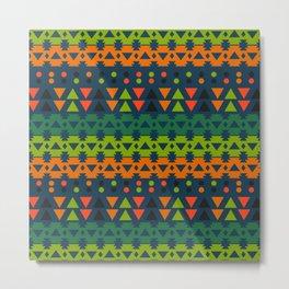 Lively geometric fun Metal Print