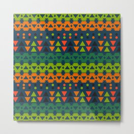 Lively geometric fun Metal Print