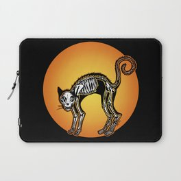 Halloween Cat Skeleton silhouette Laptop Sleeve